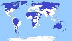 Only 5% of the entire world's population lives in the blue shaded regions. For comparison, another 5% lives in the red shaded area. - Imgur