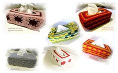 Kosmetiktücher-Boxen - Taschentücher/Kosmetiktücher - Box gehäkelt, Baby - ein Designerstück von faunora-funflower bei DaWanda