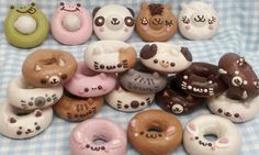 "Japanese Animal Doughnuts [in classic Japanese ""a bit too cute"" style]"