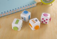 Fidget Cube, A Vinyl Desk Toy With Six Faces of Fidgeting Fun To Keep People's Hands Busy