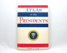 Vintage 1970s Atlas of the Presidents book, presidential election chart, US constitution, state votes, history, electoral college, politics by SmilingCatVintage on Etsy