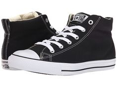 Converse Chuck Taylor® All Star® Street Core Canvas Mid Black/Natural/White - Zappos.com Free Shipping BOTH Ways