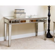 ABBYSON LIVING Omni Mirrored Desk - Overstock Shopping - Great Deals on Abbyson Living Coffee, Sofa & End Tables