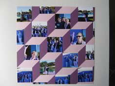 Scrapbook geometric Lots of boxes cubes Purple Retreat