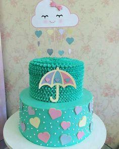 Cupcakes Amor Fondant Sweets 34 Ideas For 2019 Fondant Toppers, Fondant Cupcakes, Raindrop Baby Shower, Bolo Fack, Fiesta Cake, Cloud Cake, Little Pony Cake, Ballerina Cakes, Cupcake Birthday Cake