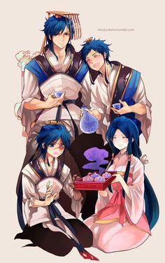 Hakuren, Hakuyuu, Hakuei & Hakuryuu - Magi: The Labyrinth of Magic