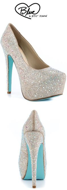 Something Blue by Betsey Johnson's White Wish - Champage