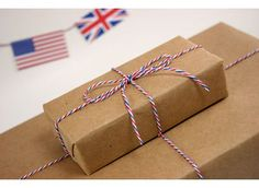 DIVINE TWINE  10 METRES - AIR MAIL - RED, WHITE & BLUE BAKERS TWINE - GORGEOUS  $3.20 + 1.50 postage