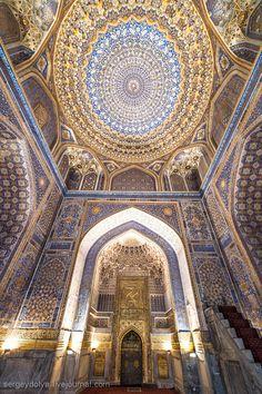 Madrasah Tilla-Kori, Samarkand, Uzbekistan, Central Asia.