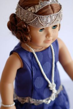 American Girl Doll Clothing, Downton Abby Inspired Doll Outfit, Purple American Girl Doll dress, Flapper Dress for dolls, ag doll dress by BonjourTeaspoon on Etsy by rachelle Head Clothing, My American Girl Doll, Girl Dolls, Dolls Dolls, Pink Doll, Ag Doll Clothes, Girl Outfits, Doll Stuff, Flapper Girls