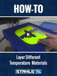 Want to create mixed media looks with different #heattransfermaterials? Stahls' TV Presenter, Josh Ellsworth shows you how to adjust applications to layer different types of material without ruining your job. StahlsTV.com