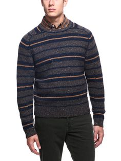 Billy Reid - Saddle Crew Melange Sweater    Better suited for winter, the colors in this sweater remind me of Midnight