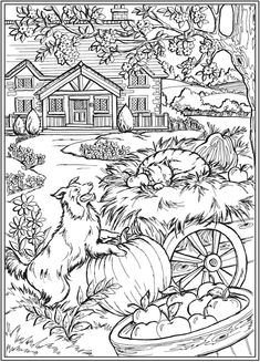 – Coloring for Adults - Malvorlagen Mandala Dover Coloring Pages, Farm Animal Coloring Pages, Abstract Coloring Pages, Fall Coloring Pages, Colouring Pics, Coloring Pages To Print, Coloring Books, Mandala Coloring, Coloring Sheets