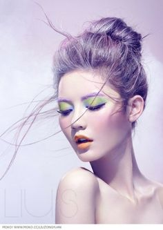 purple hair and great make up Beauty Make Up, My Beauty, Hair Beauty, Makeup Art, Eye Makeup, Hair Makeup, Asian Makeup, Pastel Hair, Purple Hair