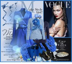 """""""Love blue!"""" by anallasa ❤ liked on Polyvore"""