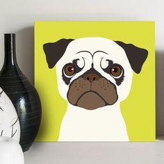 quadro decorativo pug