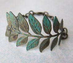 Leafy Verdigris Bracelet Uncovet