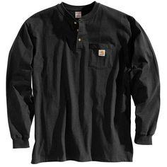 Carhartt K128 Classic Long-Sleeve Henley Shirt ($27.25) // barry allen