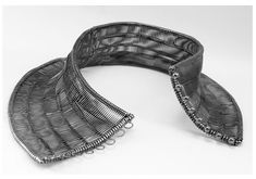 Necklace | Toril Bjorg.  Sterling silver collar, 2003