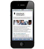 Recherchedienste und aktuelle Informationen direkt auf dem SmartPhone. Ideal für den mobilen Abruf von Firmenauskünften und Recherchediensten.
