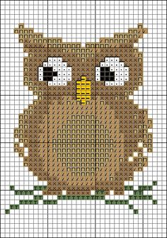 """Cute Owl"" cross stitch pattern"