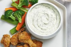 This bold creamy dip takes just minutes to make and is the ideal sidekick to wings, chips, pita wedges and veggies. Spread any leftovers on chicken or roast beef sandwiches for a delicious hit of dill. Quick Party Food, Spicy Corn Dip, Cold Dip Recipes, Free Recipes, Canadian Living Recipes, Appetizer Recipes, Appetizers, Savoury Recipes, Roast Beef Sandwiches