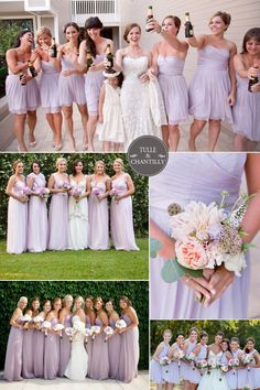 orchid tint pale purple bridesmaid gowns for spring summer wedding #tulleandchantilly