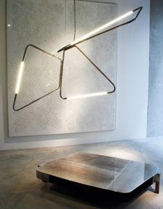 Vincenzo de Cotiis - Progetto Domestico  Milano 2012 Modern Exterior Lighting, Interior Lighting, Lighting Ideas, Vincenzo De Cotiis, Commercial Interiors, Light Up, Light Fixtures, Sink, House Design