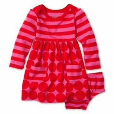 giggleBABY™ Striped Dot Dress - Girls newborn-24m - jcpenney