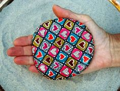 Quilt of Love/ Painted Rock / Sandi Pike Foundas. $65.00, via Etsy.