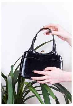 Little black bag 60s cute faux leather vintage mod handbag | Pop Sick | ASOS Marketplace