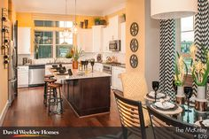 The kitchen in our townhome plan, The McKinley. Great for entertaining.