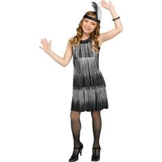 Halloween Costumes For Girls, Halloween Party Decor, Flapper Girl Costumes, Feather Headband, Collar Top, Jogger Sweatpants, Stage Design, Black Sequins, Costume Accessories