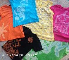 bleach pen decorated tees - tips and fixes for when they don't turn out as expected