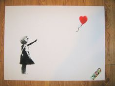 Banksy Canvas (READY TO HANG) - Balloon Girl - Multiple Canvas Sizes
