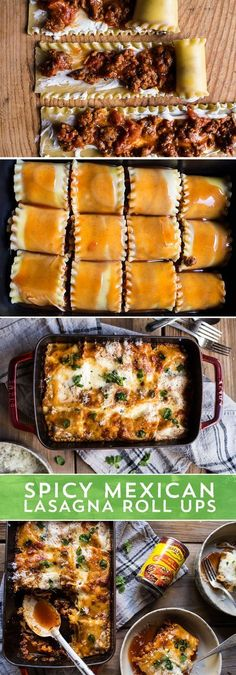 Cool weather have you craving comfort food? These Spicy Mexican Lasagna Roll Ups from @Half Baked Harvest are the perfect comfort food! They pack all the Mexican spice you love, made easy with Old El Paso™ Enchilada Sauce, paired with the hearty, cheesy comfort of lasagna without all the fuss!