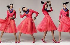 """Dance Baby Dance!"" : Joan Smalls : Vogue Turkey December 2012 : Cuneyt Akeroglu"