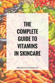 Vitamins in #skincare #skincaretips #skincareblogger
