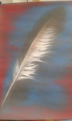 chalk pastel feather