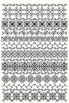 Blackwork bookmarks, 40 snowflakes and floral borders pdf file Mais Blackwork Cross Stitch, Blackwork Embroidery, Cross Stitch Borders, Cross Stitching, Cross Stitch Embroidery, Embroidery Patterns, Cross Stitch Patterns, Russian Embroidery, Border Embroidery