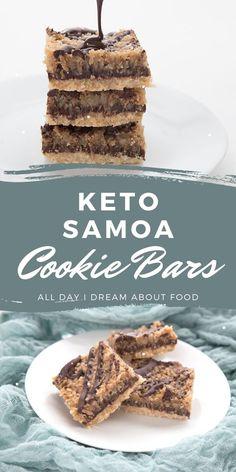 Keto shortbread crust, sugar-free caramel, coconuts and chocolate. A winning combination!