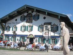 Oberammergau in southern (Bavaria) Germany.  The passion of the Christ is held there every year.