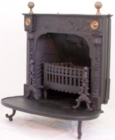 anigue stoves   Early Fireplace Wood and Coal Antique Franklin Stove - FRK1580