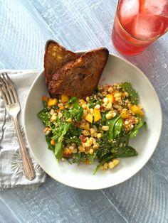 Arugula, Peach & Fresh Corn Salad – In Jennie's Kitchen