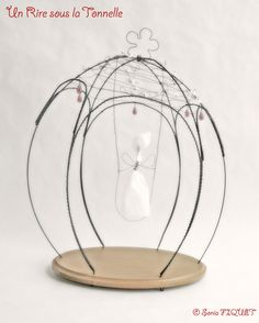 Wire Cage with Paper Elf  UnRiresouslaTonnelle  Poetic and playful creations for interior design