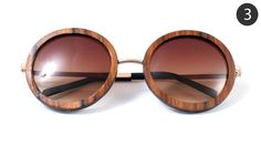 ✖ 3 – Rose Gold Circle Wood Veneer Sunglasses by Tumbleweeds Handcraft