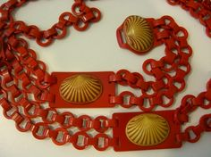 Vintage Celluloid Plastic Chain Belt Art Deco by OwlVintage on Etsy - I am sooo in love with this belt!!