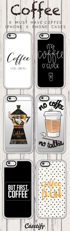 Top 6 Coffee iPhone 6 protective phone case designs | Click through to see more iPhone phone case designs >>> https://www.casetify.com/artworks/rwHrO7wUPq #coffee | /casetify/