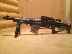 A little project I have been working on, it's a nerf mega centurion repainted and modified to look like a Future War Cult sniper rifle from the game Destiny. The other side still needs some detail work, but due to the internal problems of the centurion, I am going to need to take it apart again before I can paint on that side. #destiny #gun #rifle #nerf #cosplay #costume #halloween #sniper #paint #paintjob #projects #fwc #futurewarcult