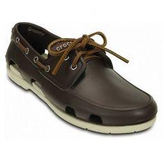 Schoen Crocs Beach Line Boat Shoe Men Espresso